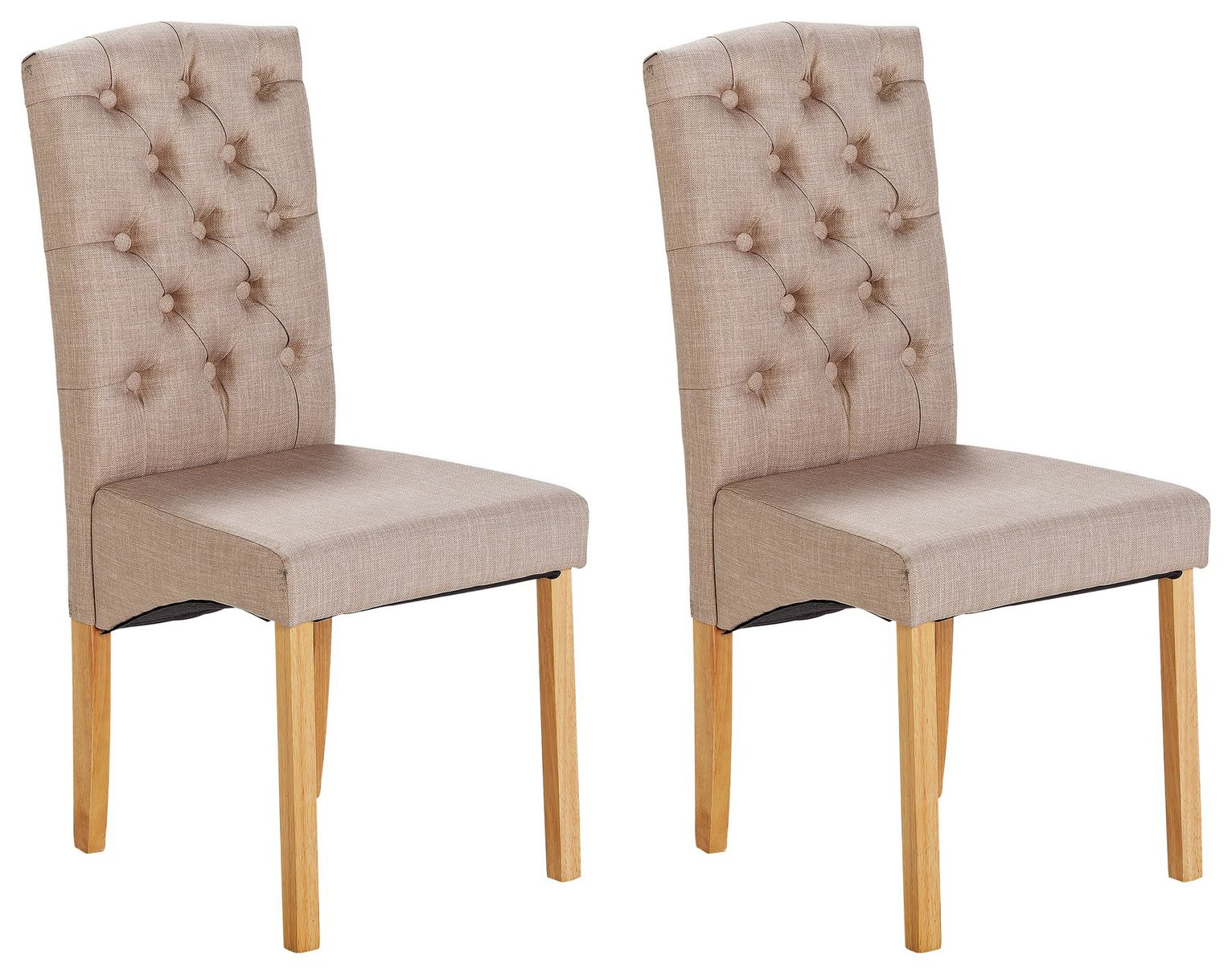 Image of Collection Aurelia Pair of Fabric Chairs - Natural