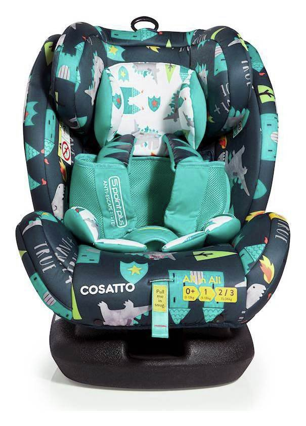Image of Cosatto AllinAll Groups 1-2-3 ISOFIX Car Seat - Dragon