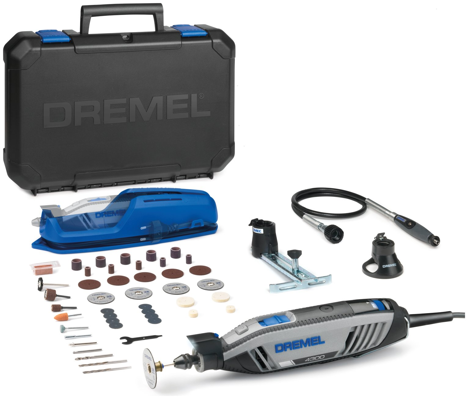 Dremel 4300-3/45 Multi-Tool Kit with EZ Wrap and Case
