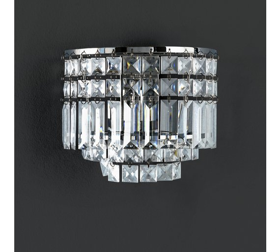 Buy argos home olivia semi flush wall light chrome ceiling and argos home olivia semi flush wall light chrome aloadofball Gallery