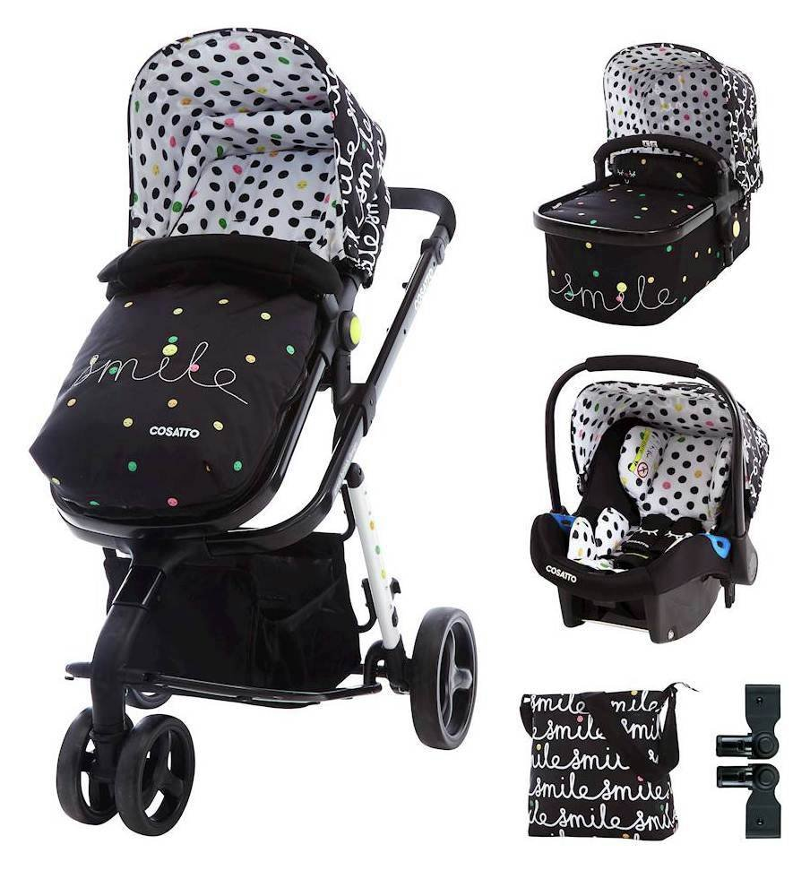 Cosatto Giggle Travel System & Accessories Bundle - Smile