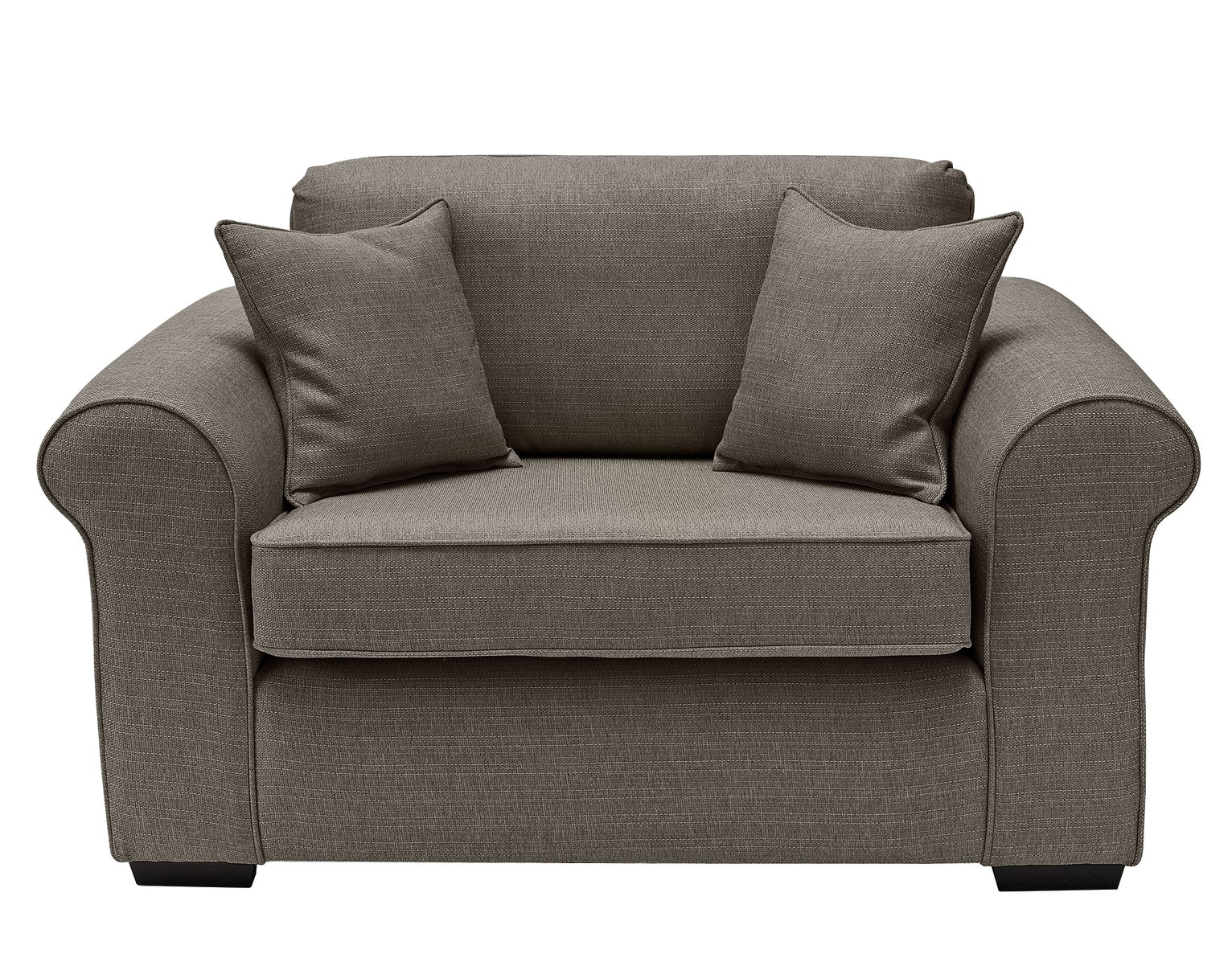 Collection Erinne Fabric Cuddle Chair - Grey