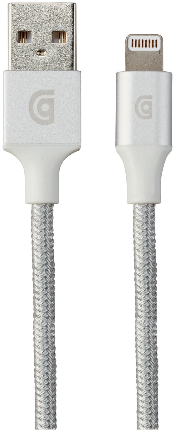 Image of Griffin Lightning 5ft Charging Cable - Silver