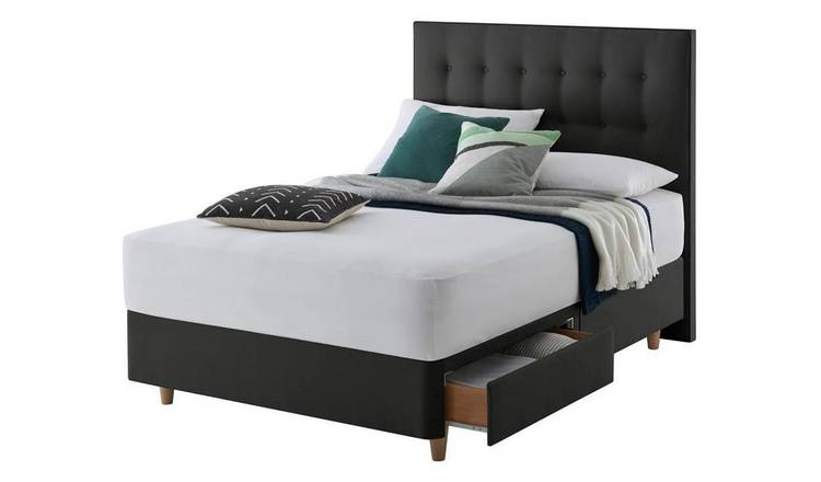 Silentnight Alaro 2 Drawer Kingsize Divan Bed - Ebony