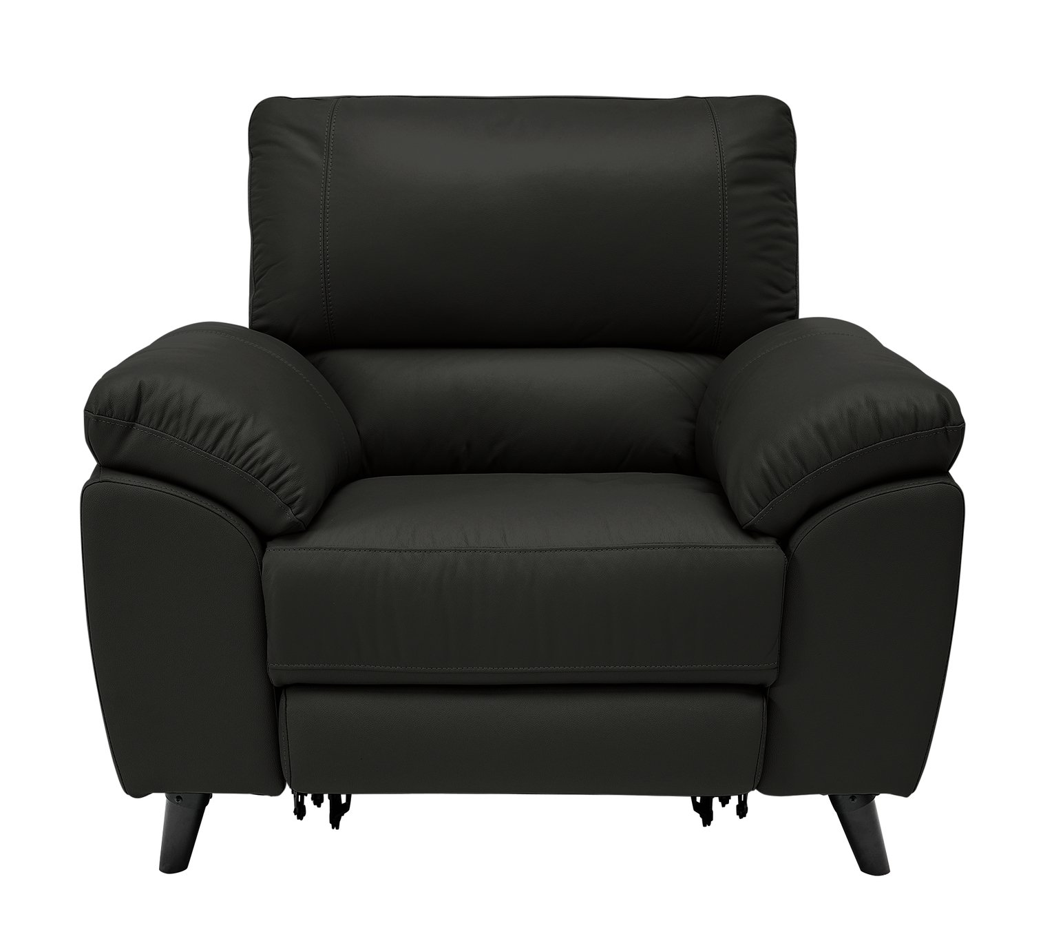 Argos Home Elliot Leather Mix Power Recliner Chair - Black