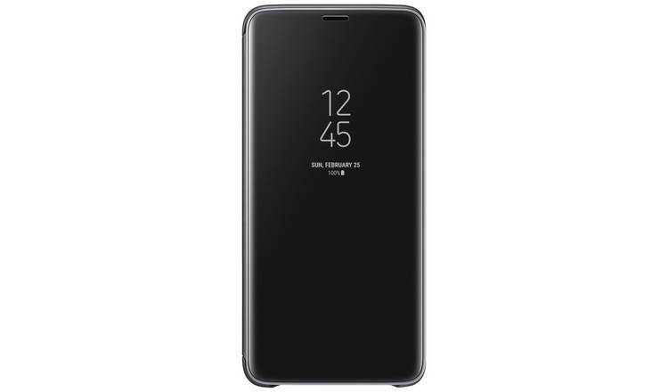 factory price c16d2 0f98a Buy Samsung S9+ Clear View Standing Cover - Black | Mobile phone cases |  Argos