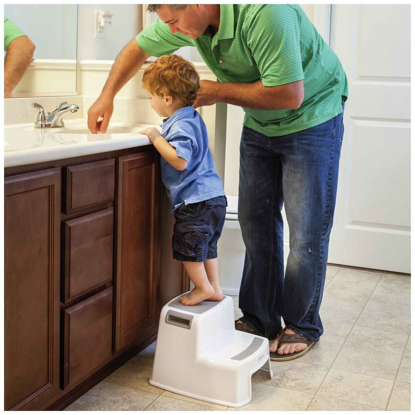 Image of Dreambaby 2 Height Step Stool - Grey