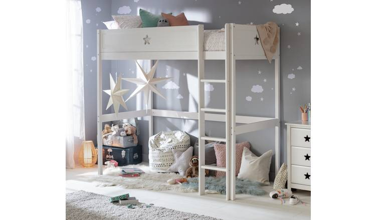 Buy Argos Home Stars White High Sleeper Bed Frame Kids Beds Argos