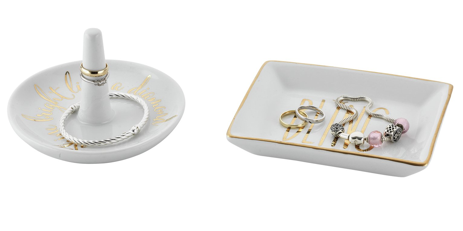 Image of Porcelain Jewellery Tidy - Set of 2