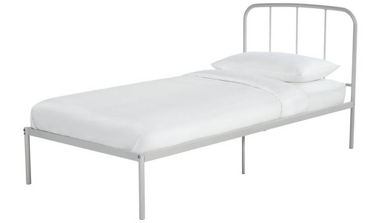 Argos Home Freja Single Metal Bed Frame - Silver