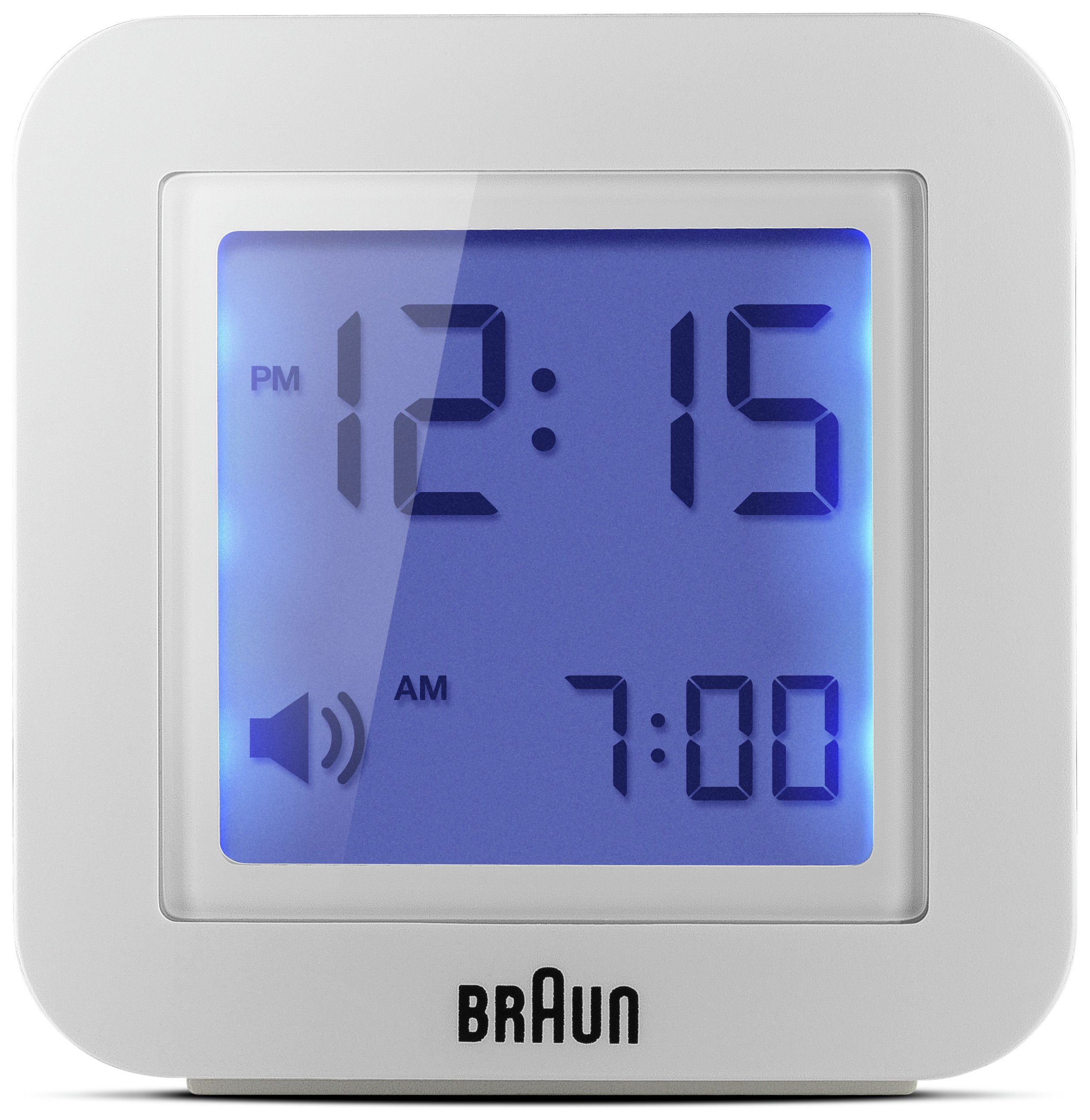 Image of Braun Digital Travel Alarm Clock - White