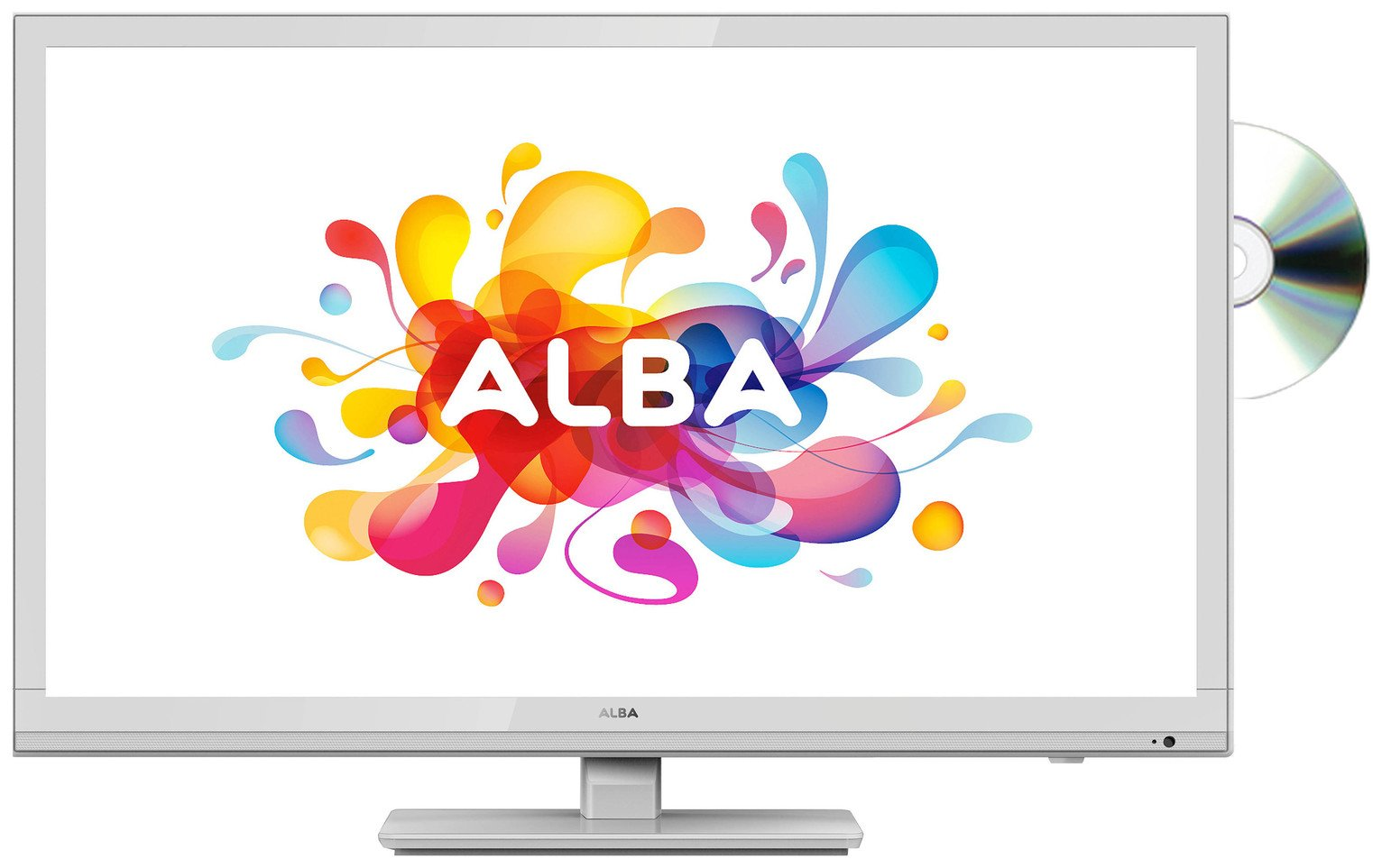Image of Alba 24 Inch HD Ready TV/ DVD Combi - White