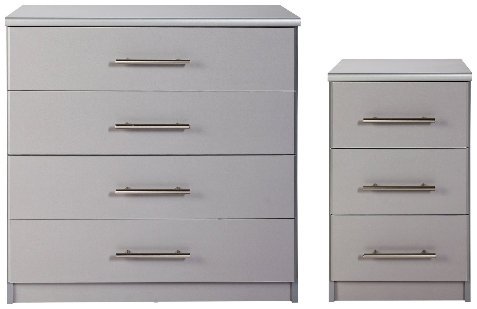 Argos Home Normandy Bedside 4 Drawer Chest Package Grey