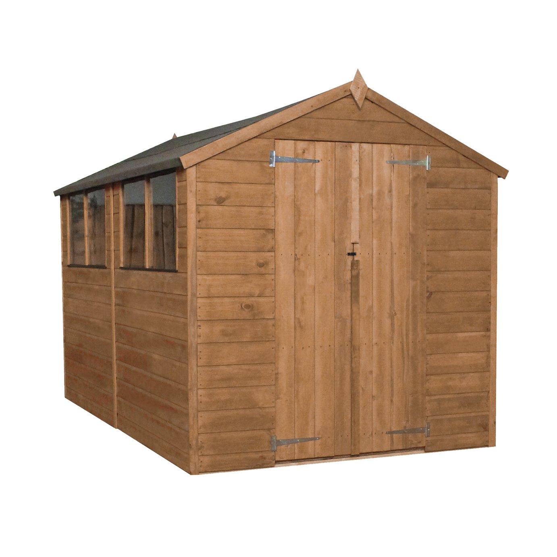 Mercia Workman Wooden 10 x 6ft Shiplap Apex Shed
