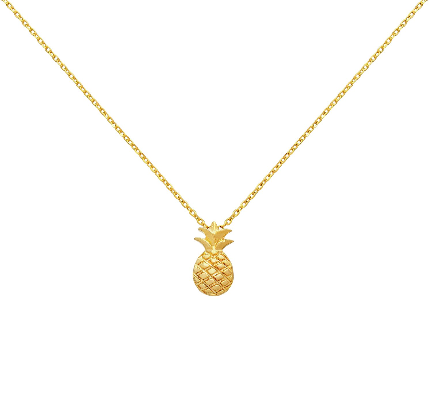 Image of Amelia Grace Gold Colour Pineapple Necklace