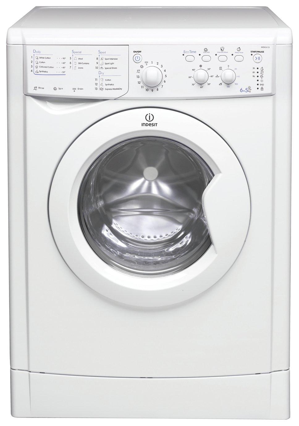 Indesit IWDC6125 6KG / 5KG 1200 Spin Washer Dryer - White