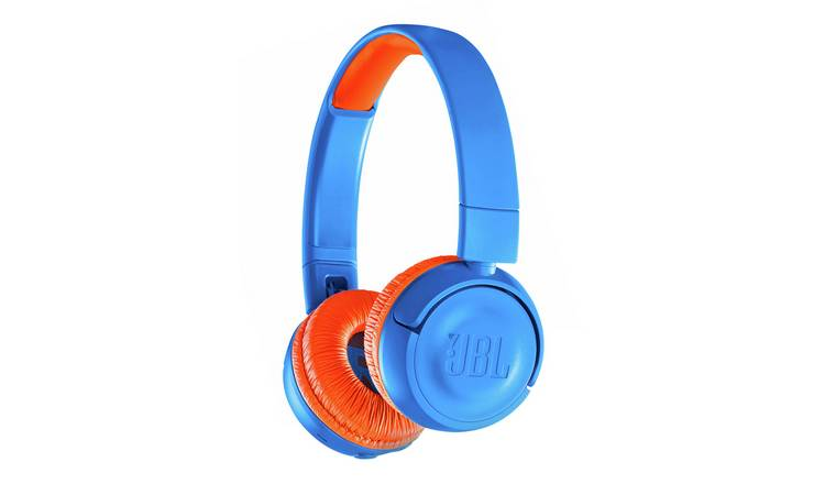 87a283edc5a JBL JR300BT Kids Wireless On-Ear Headphones - Blue / Orange804/9386
