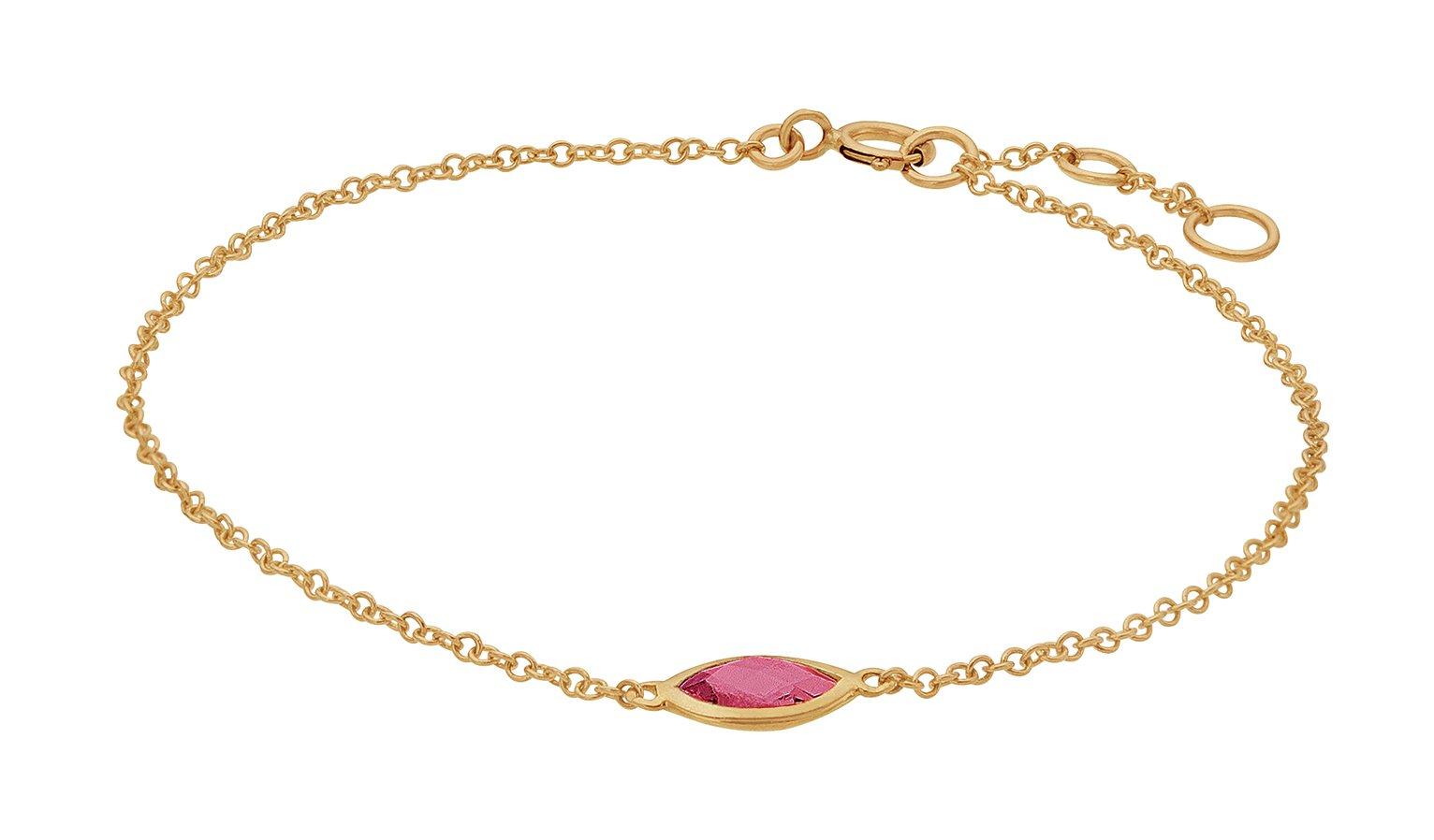 Revere 9ct Yellow Gold Garnet Bracelet