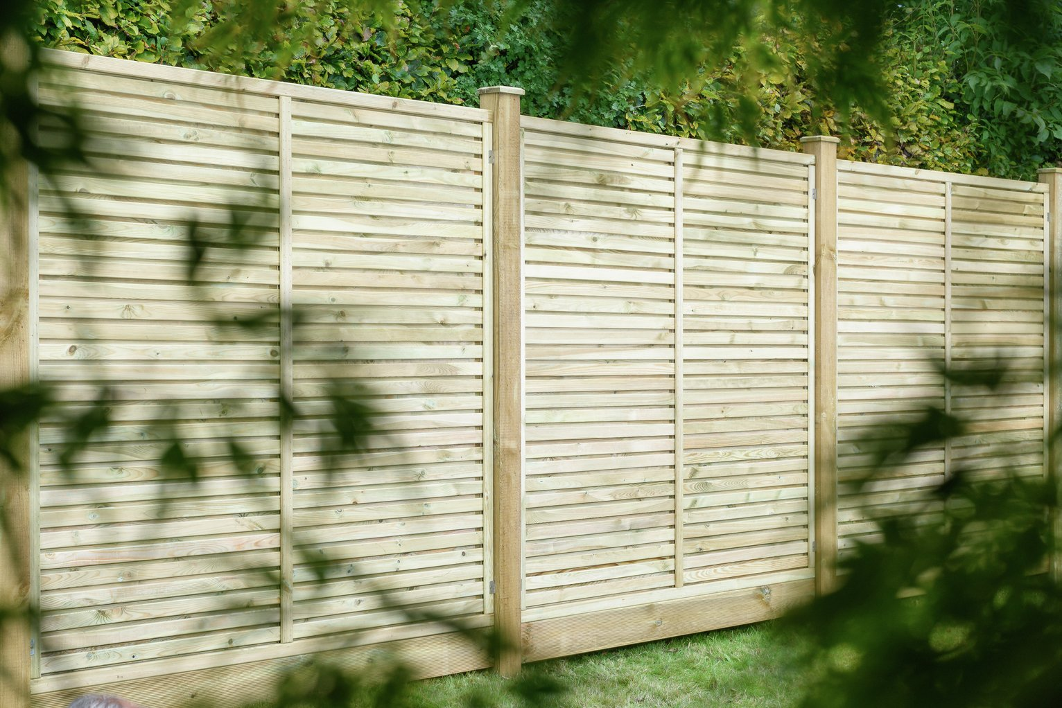 Image of Grange Fencing 1.8m Contemporary Vogue Panel - Pack of 4