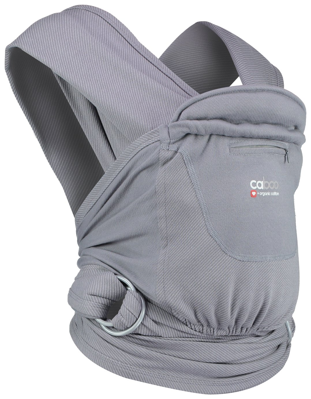 Cabboo + Organic Stripe Newborn Carrier - Titanium