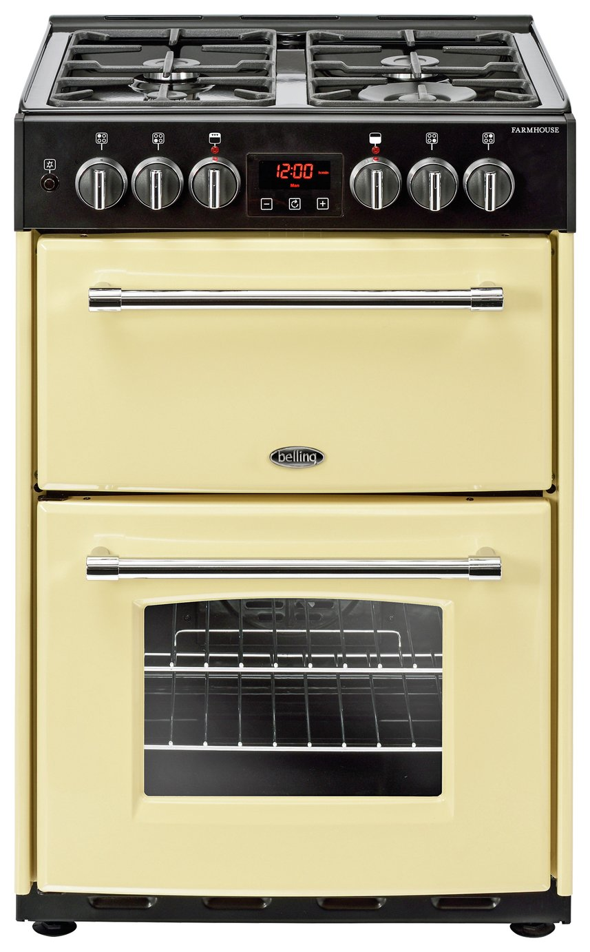 Belling Farmhouse 60DF 60cm Dual Fuel Range Cooker - Cream
