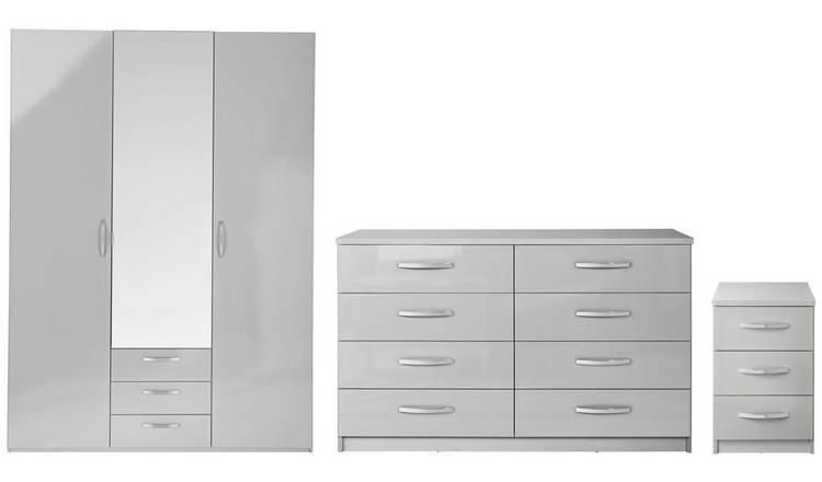 Buy Argos Home Hallingford Gloss 3 Piece Wardrobe Set