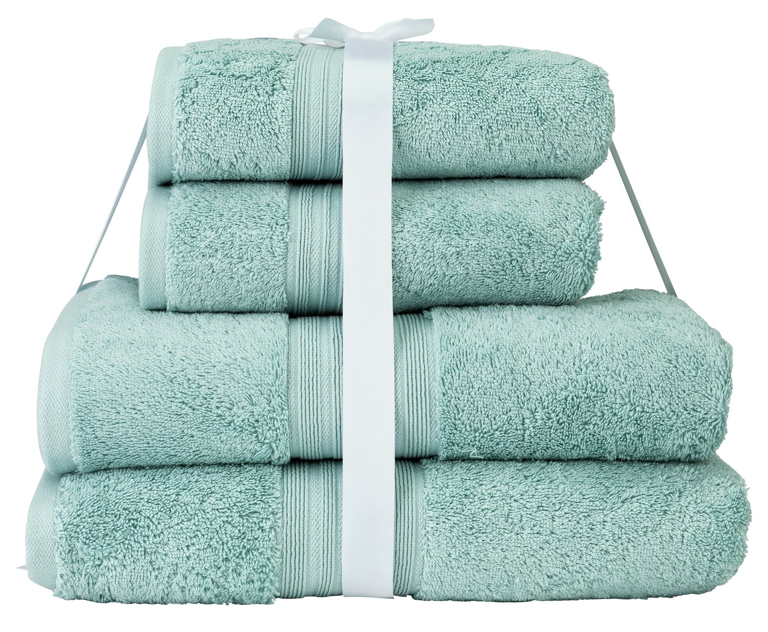 Argos Home Egyptian Cotton 4 Piece Towel Bale - Egg Shell