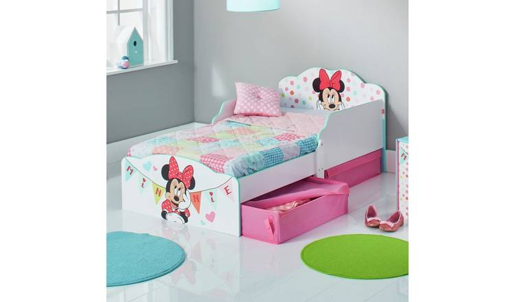 brand new 9d4f7 e1931 Buy Minnie Mouse Toddler Bed with Drawers | Kids beds | Argos