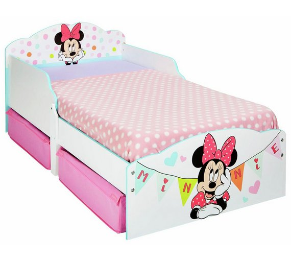 Buy Minnie Mouse Toddler Bed With Underbed Storage Drawers Kids