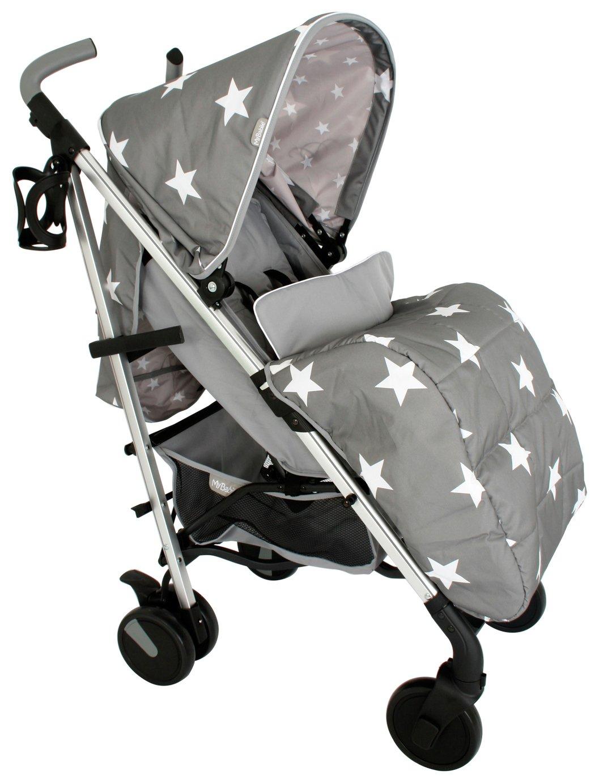 My Babiie MB51 Billie Faiers Grey Star's Stroller