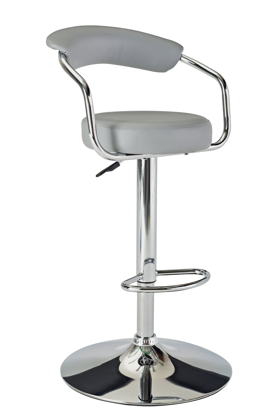 Image of Collection Executive Gas Lift Bar Stool with Back Rest- Grey