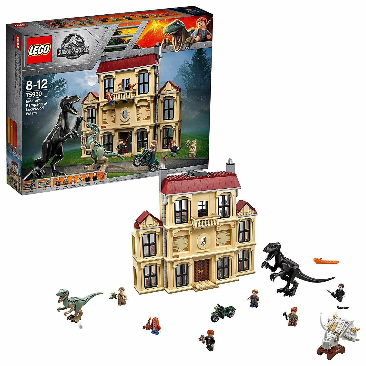 LEGO Jurassic World Indoraptor Rampage Dinosaur Toy - 75930