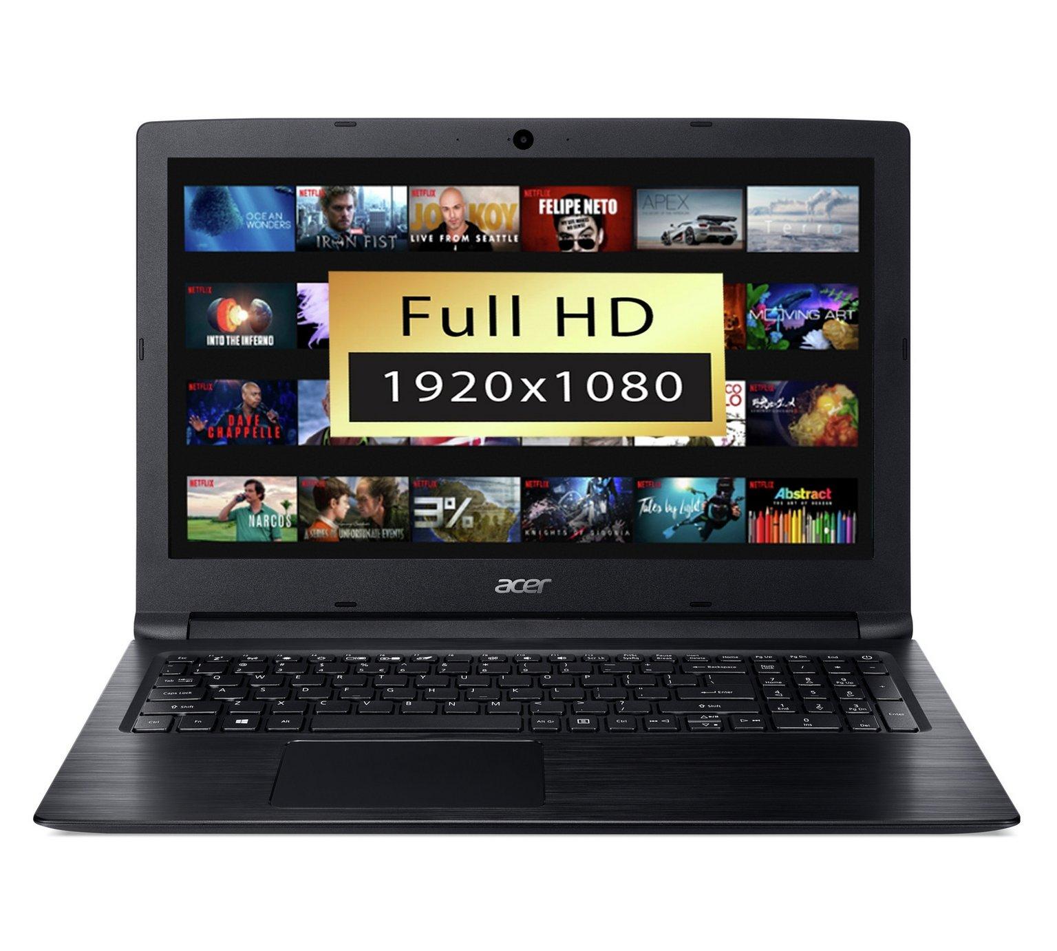 Acer Aspire 3 15.6 Inch AMD E2 4GB 1TB Laptop - Black