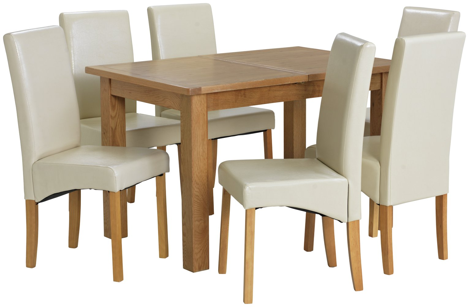 Collection Ashwell Extendable Table & 6 Chairs - Cream