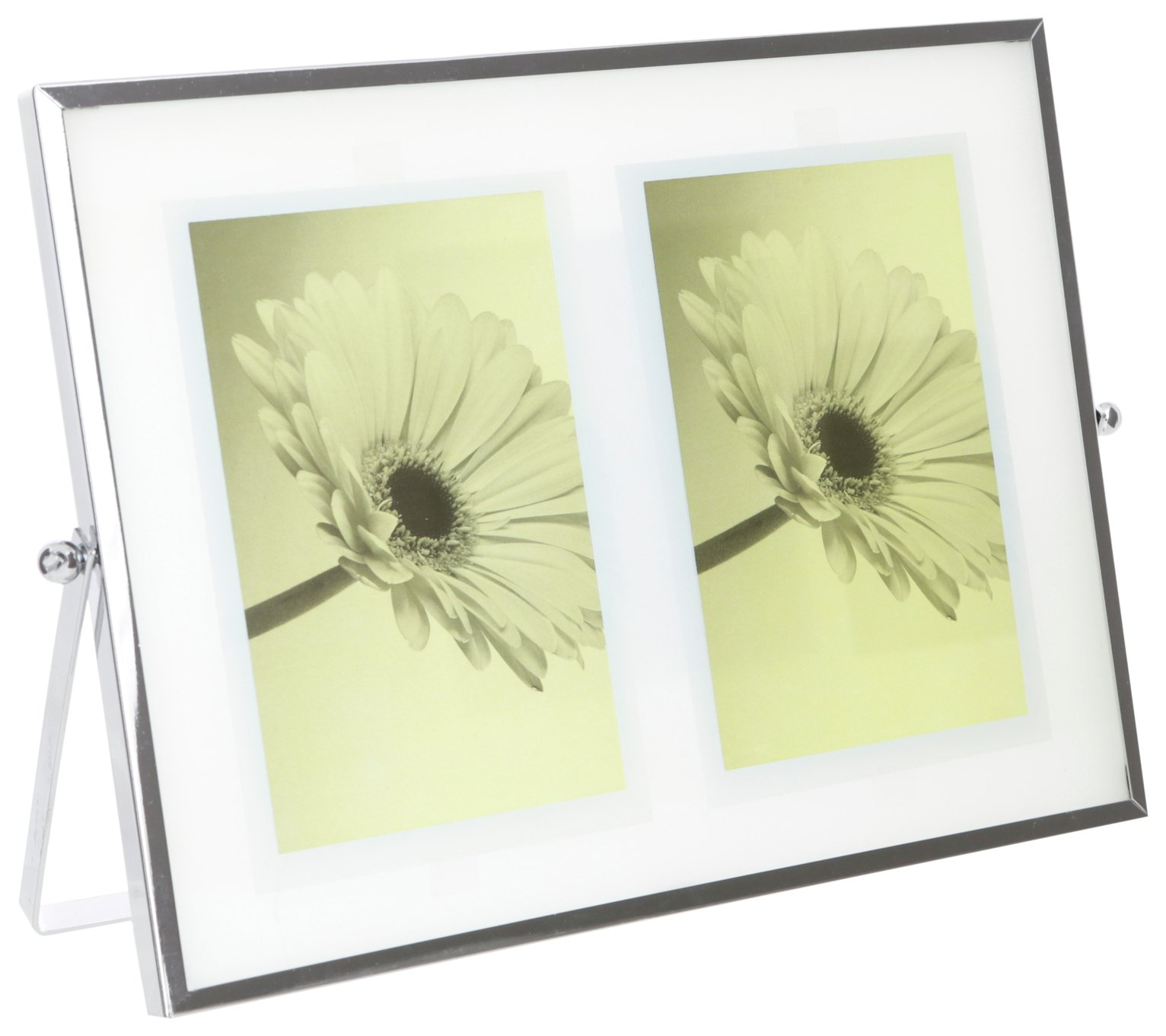 Sainsbury's Home 2 Aperture Silver Edge Photo Frame