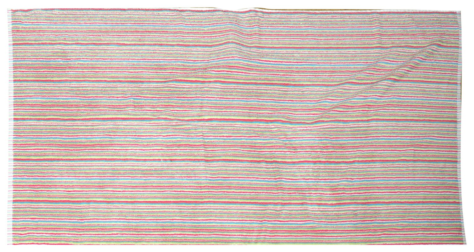 Sainsbury's Home Single Bath Towel - Bright Stripe