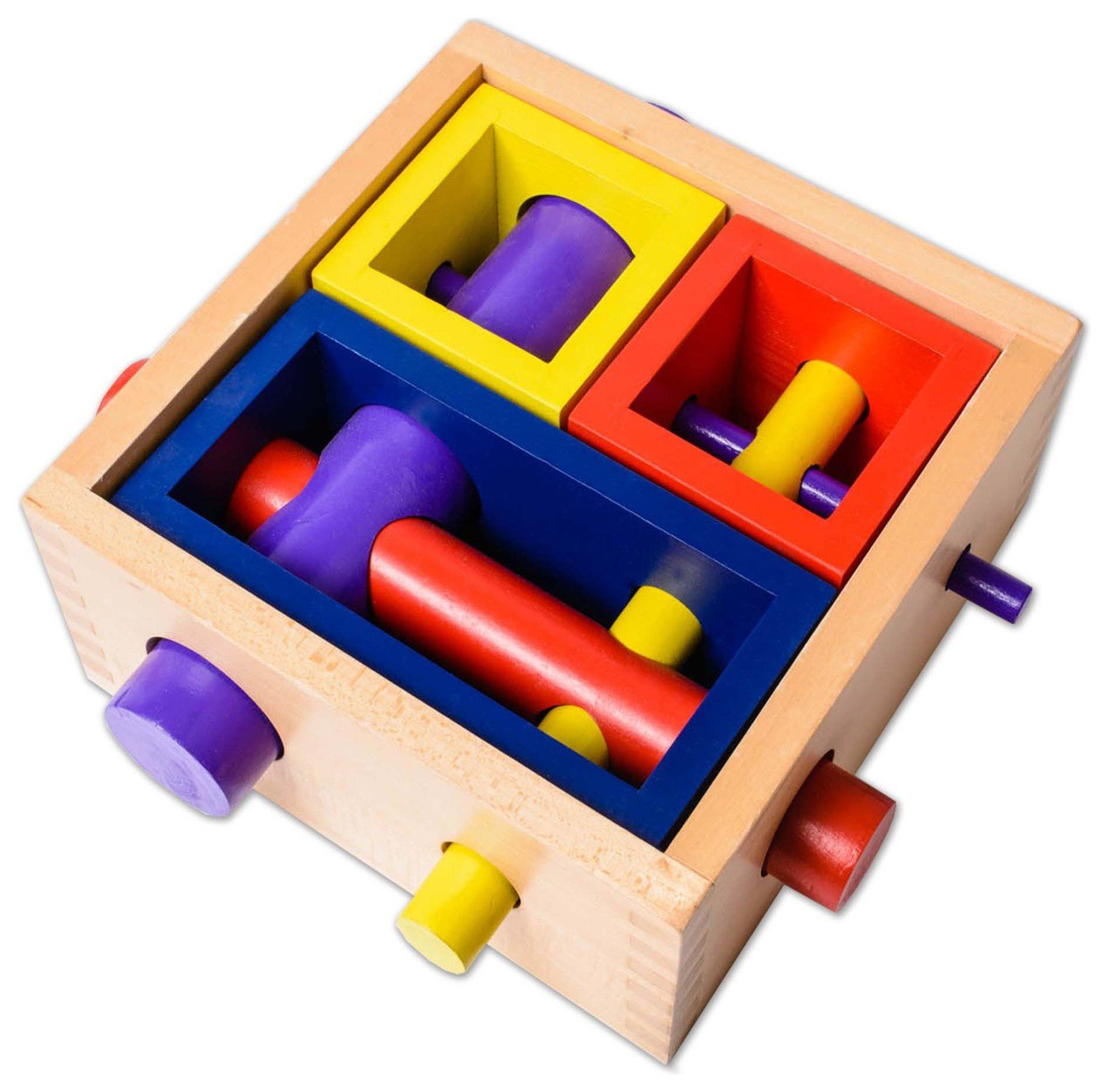 Image of EDUK8 Wooden Toy Puzzle Box