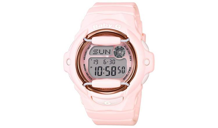 Casio Baby-G Pink Coloured Resin Strap Watch