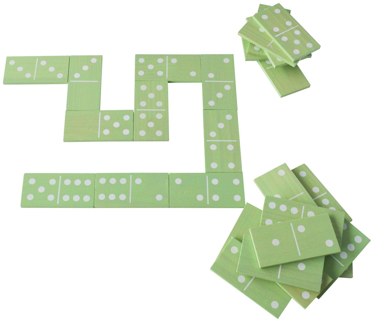 Traditional Garden Games Wooden Dominos Set