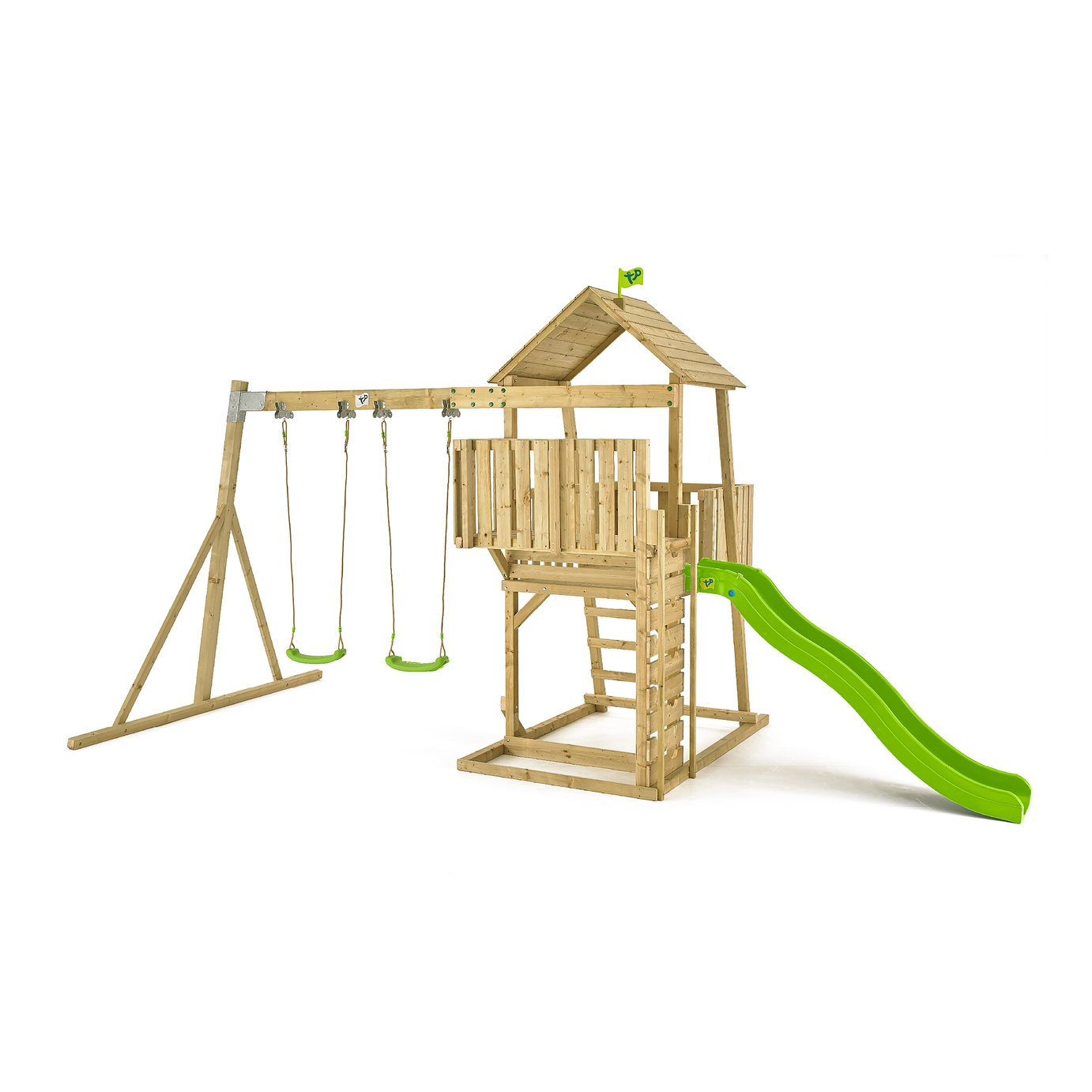 Tp toys TP KINGSWOOD BRUCE WOODEN SWING SET AND SLIDE