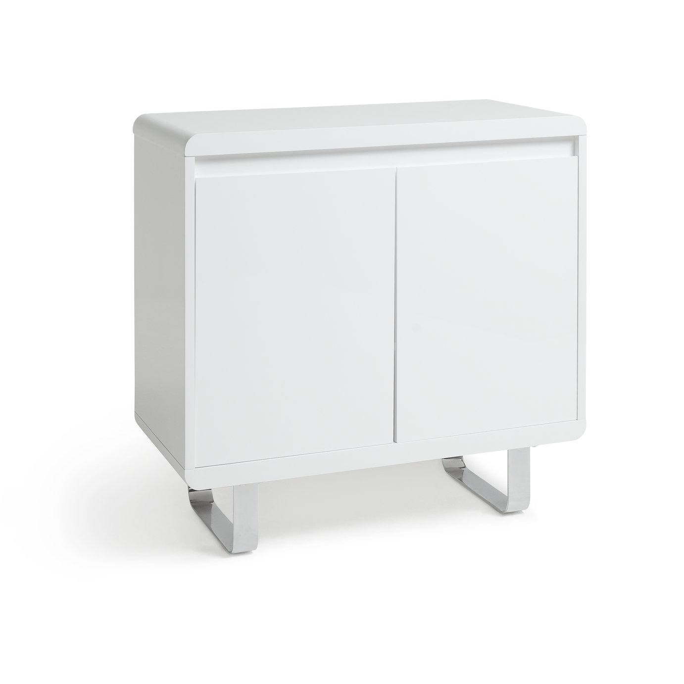 Argos Home Sleigh 2 Door Sideboard - White Gloss