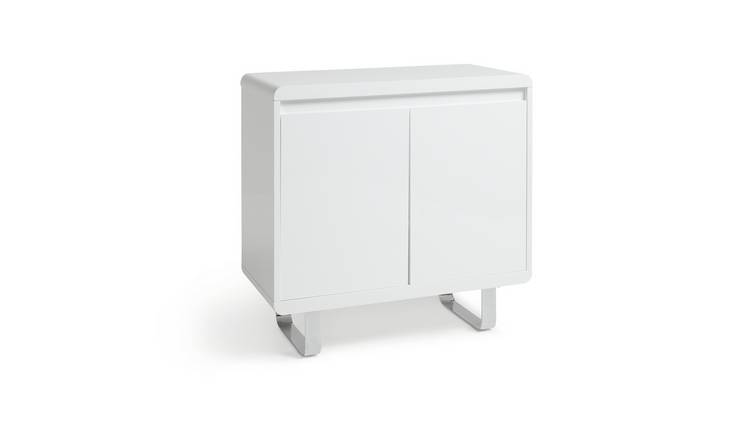 Habitat Sleigh 2 Door Sideboard - White Gloss