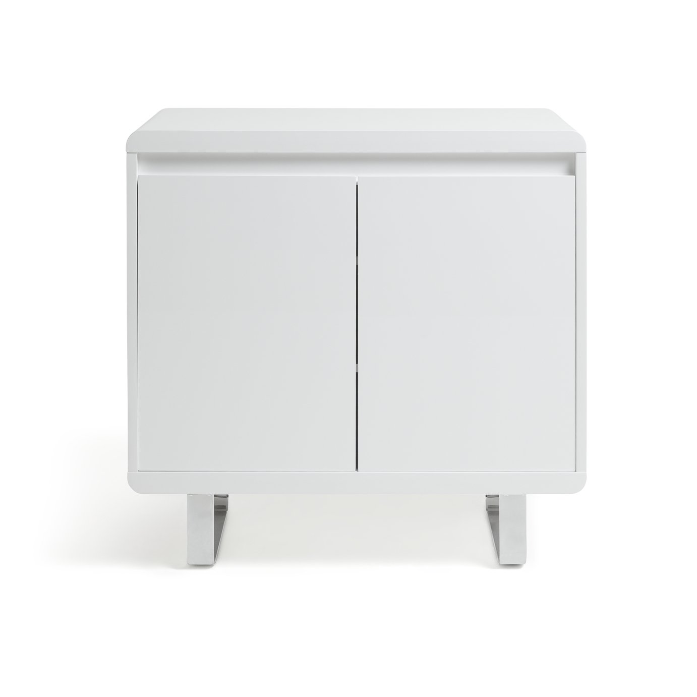 Argos Home Sleigh 3 Door 1 Drawer Sideboard White Gloss