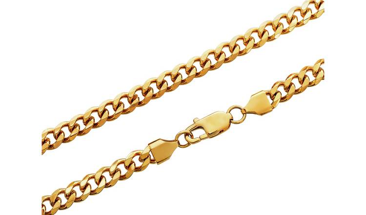 bb62709b09ede5 Buy Revere Men's Gold Colour Stainless Steel Curb Chain | Men's ...