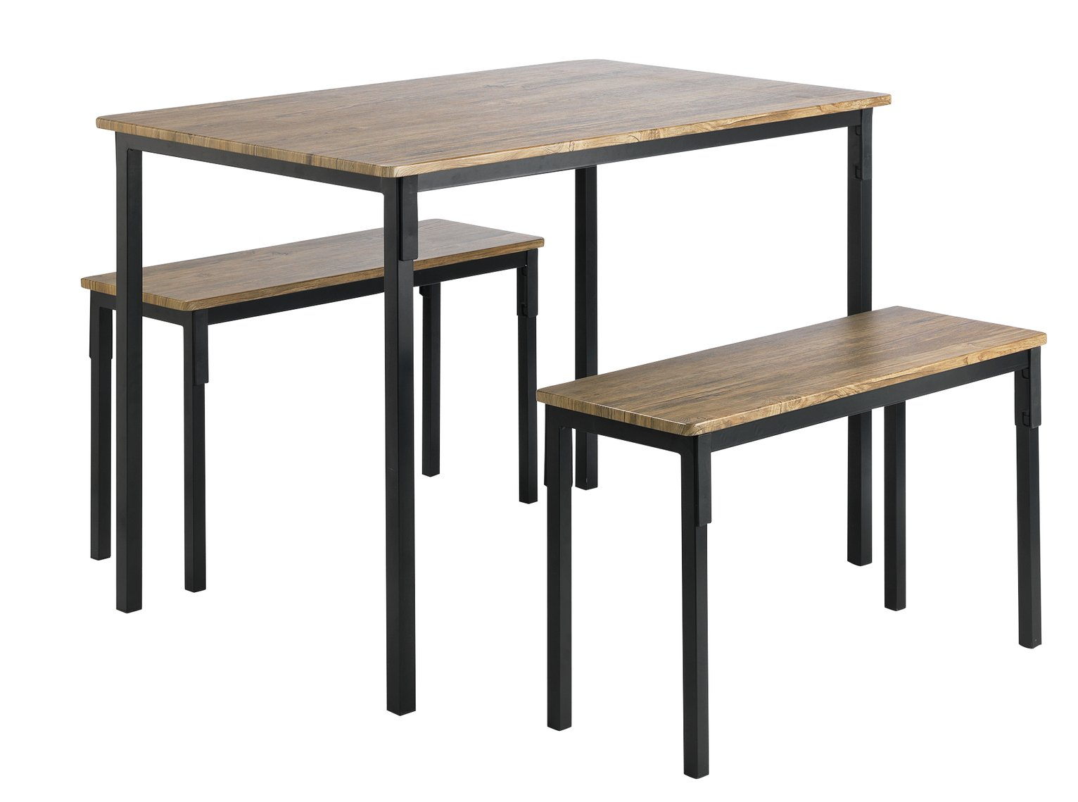 Argos Home Bolitzo Oak Effect Dining Table & 2 Benches