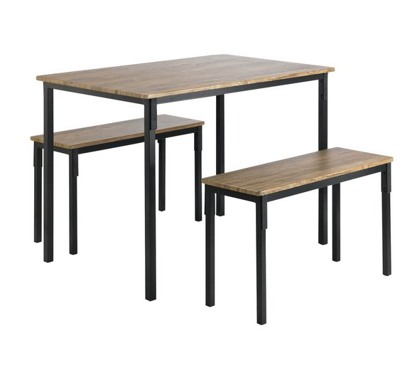 HOME Bolitzo Table And Bench Set