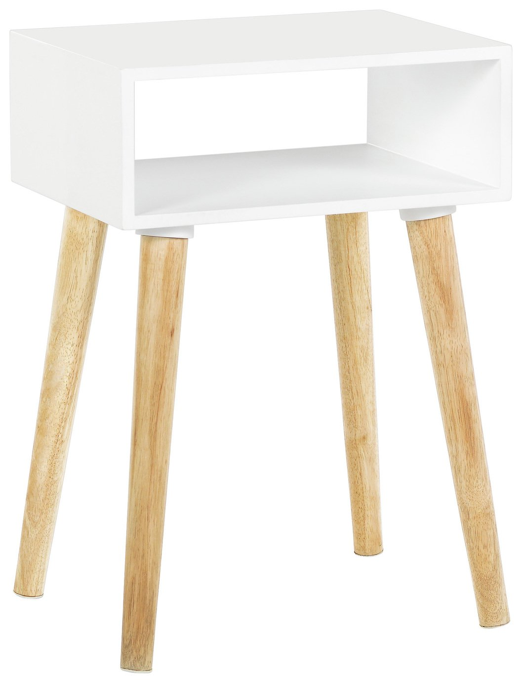 Habitat Cato Solid Wood Side Table   White805/6104
