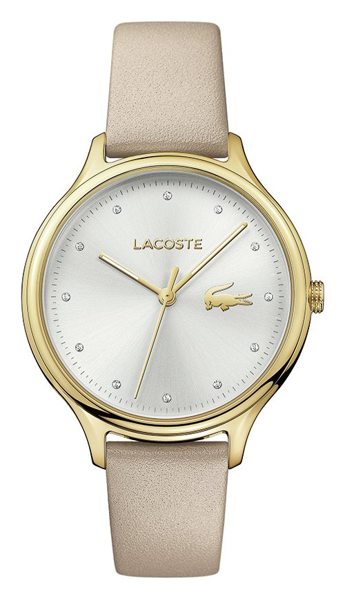 Lacoste Ladies' Constance 2001007 Beige Leather Strap Watch