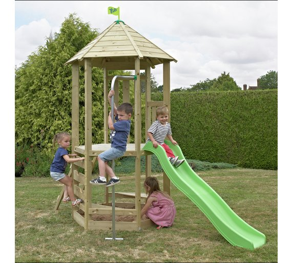 Buy TP CASTLEWOOD DOVER WOODEN CLIMBING FRAME AND SLIDE | Activity ...