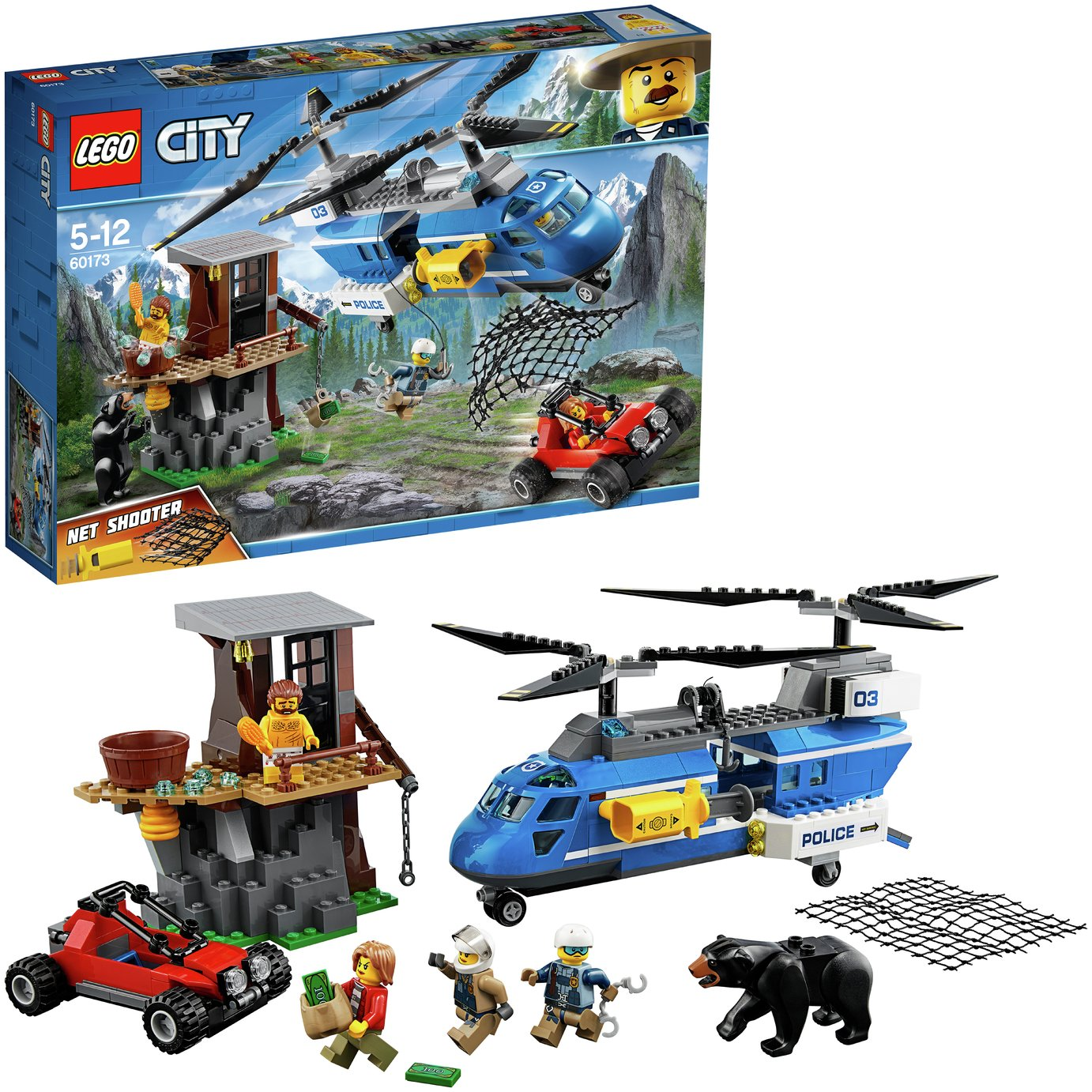 LEGO City Police Mountain Arrest Toy Helicopter - 60173